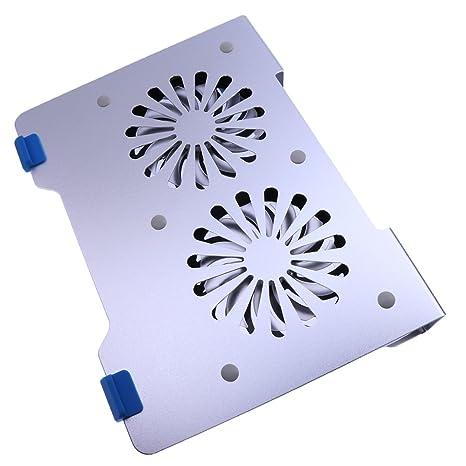 MagiDeal Soporte de Fan USB de Aleación 2 Llevó Cojín Base Refrigerador de Enfriamiento para Ordenador