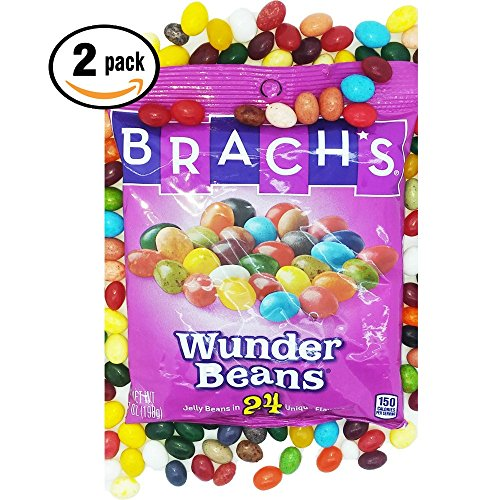 Candy Costume Crush Theme (Brachs Wunder Beans Jelly Beans 2pack 7oz ea, 24 Unique)