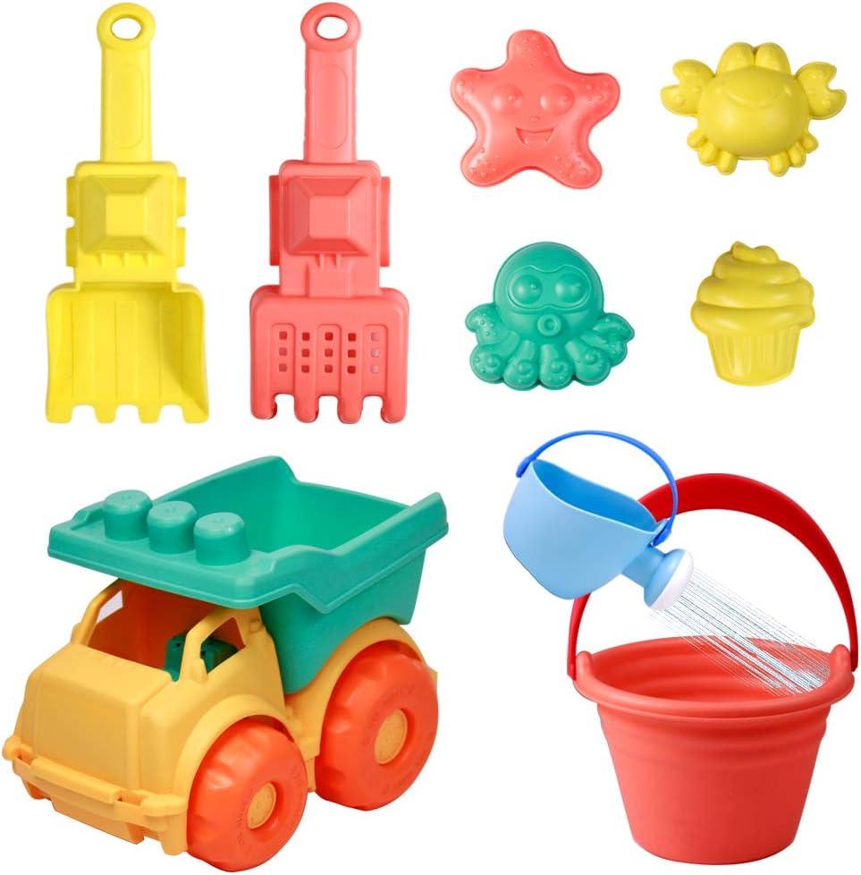 Juguetes Niños Bebe Juguete de Playa 9 Piezas Conjunto Juguetes de Nieve para Jugar Juguetes para Niños 3 4 5 Años Niñas Niñas