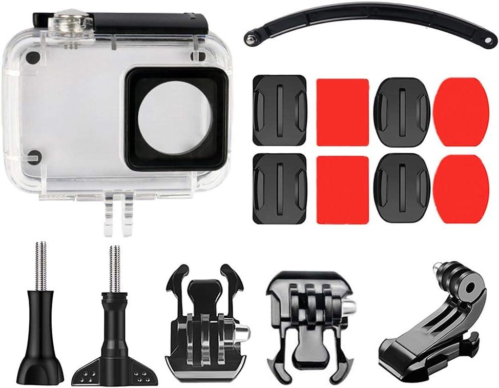 15PCS/Set Replacement for Yi For Yi helmet Series 2 4K Helmet Adjustable Mount Waterproof Case Housing Kit
