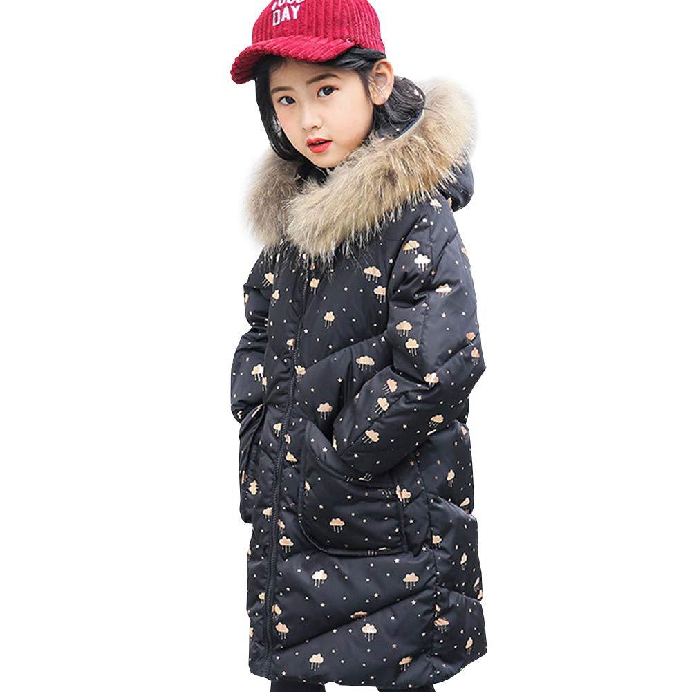 LPATTERN Kinder Winterkleidung Mädchen Winter Warme Lange Daunenjacke DE-7-8054