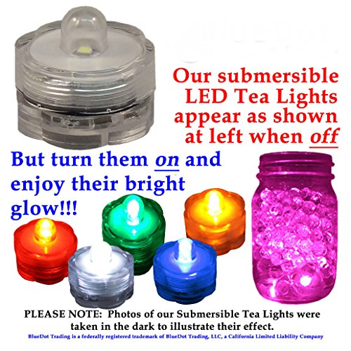12 LED Ice Bucket Submersible Lights Glow Celebration New Year's Eve Party Teal by Unknown (Image #2)