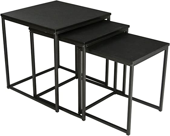 Promobo Ensemble De 3 Tables Gigogne Carre Design Cosy