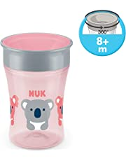 NUK Magic Cup 360° tasse d'apprentissage, rebord antifuite 360°, sans BPA, à partir de 8 mois, 230ml, ours
