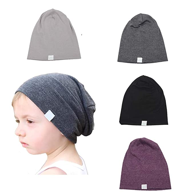 19ed50dbd5d774 Image Unavailable. Image not available for. Color: SimleShine 4 Packs Baby  Toddler Soft Cute Hats Knit Beanie Worm Winter Caps