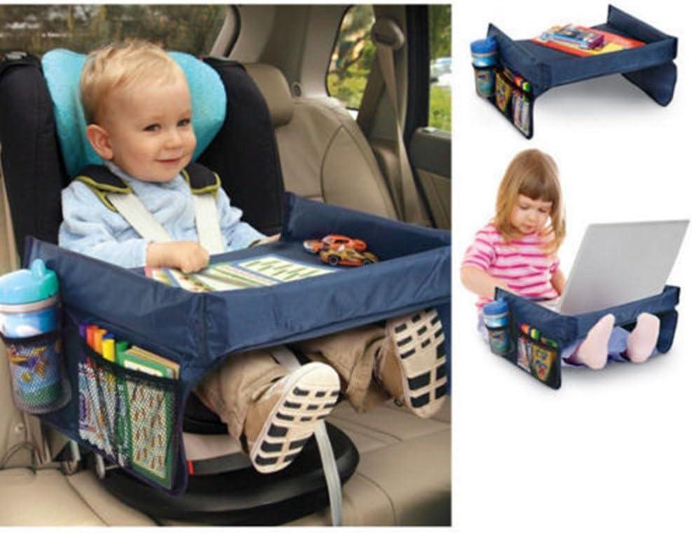 Juego de cartas de bandeja de juego mesa cinturón de seguridad asiento de coche resistente al agua para silla de paseo Buggy azul azul: Amazon.es: Bebé