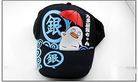 Baseball Cap Hat With Anime Gintama Cute Elizabeth Printingsbalck Color Cotton