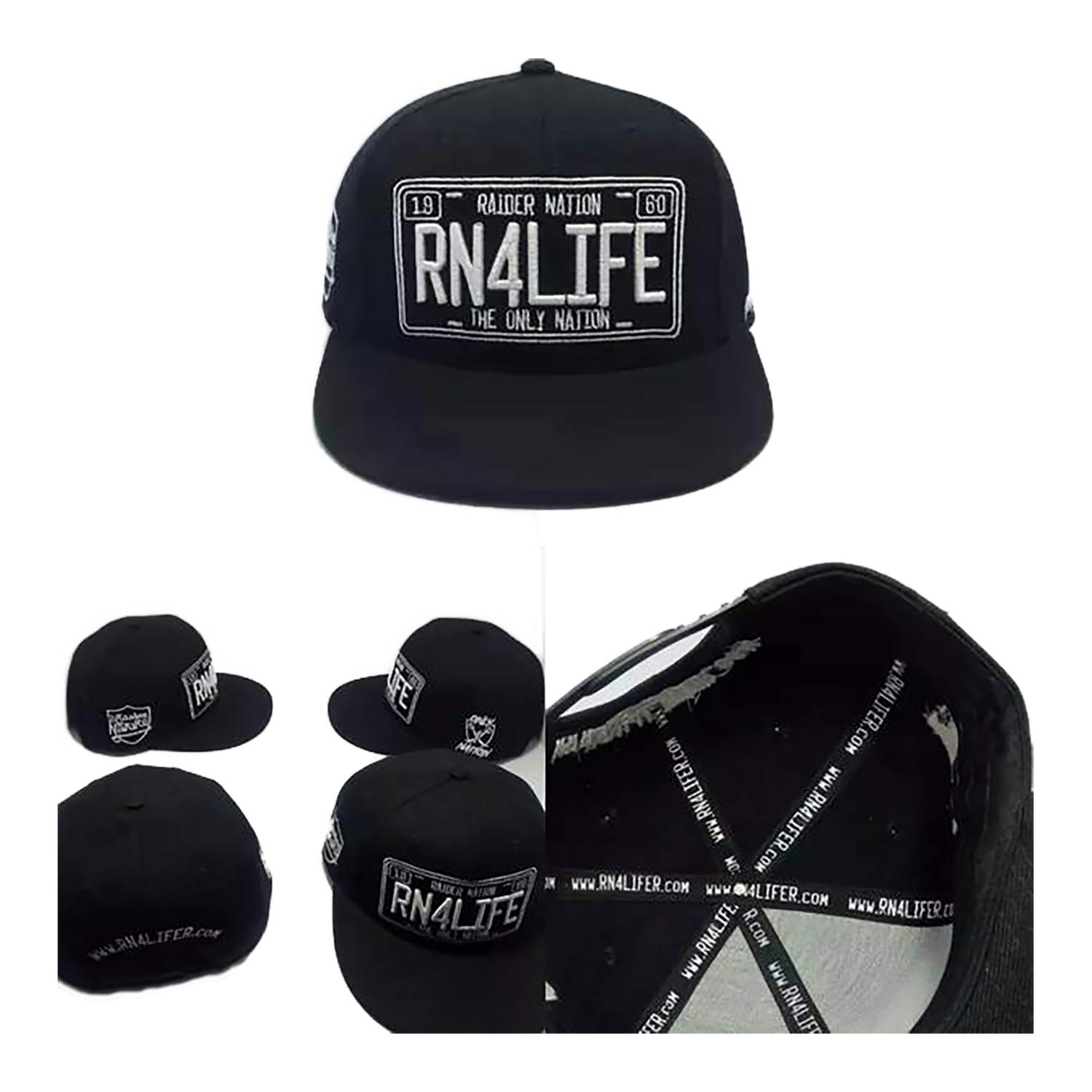 e477ba25 FanaticFan4Life RN4LIFE License to Rep Snapback & Matching Patches - Raider  Nation Hat, Raiders Cap
