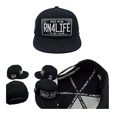 1e7caa84dc3a29 Amazon.com : FanaticFan4Life RN4LIFE License to Rep Snapback & Matching  Patches - Raider Nation Hat, Raiders Cap : Sports & Outdoors