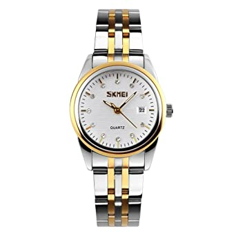 Damen Armbanduhr Edelstahl Uhren Diamant Luxus Elegant Business