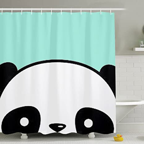 BESTSC Top Quality MINT GREEN Shower Curtains