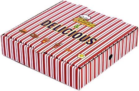 FGSJEJ Caja de Pizza de Embalaje, Caja de Embalaje for Llevar, Caja de Almacenamiento de Alimentos, desechable, el cartón Grueso Corrugado, Caja de Almacenamiento de Alimentos, 7-10