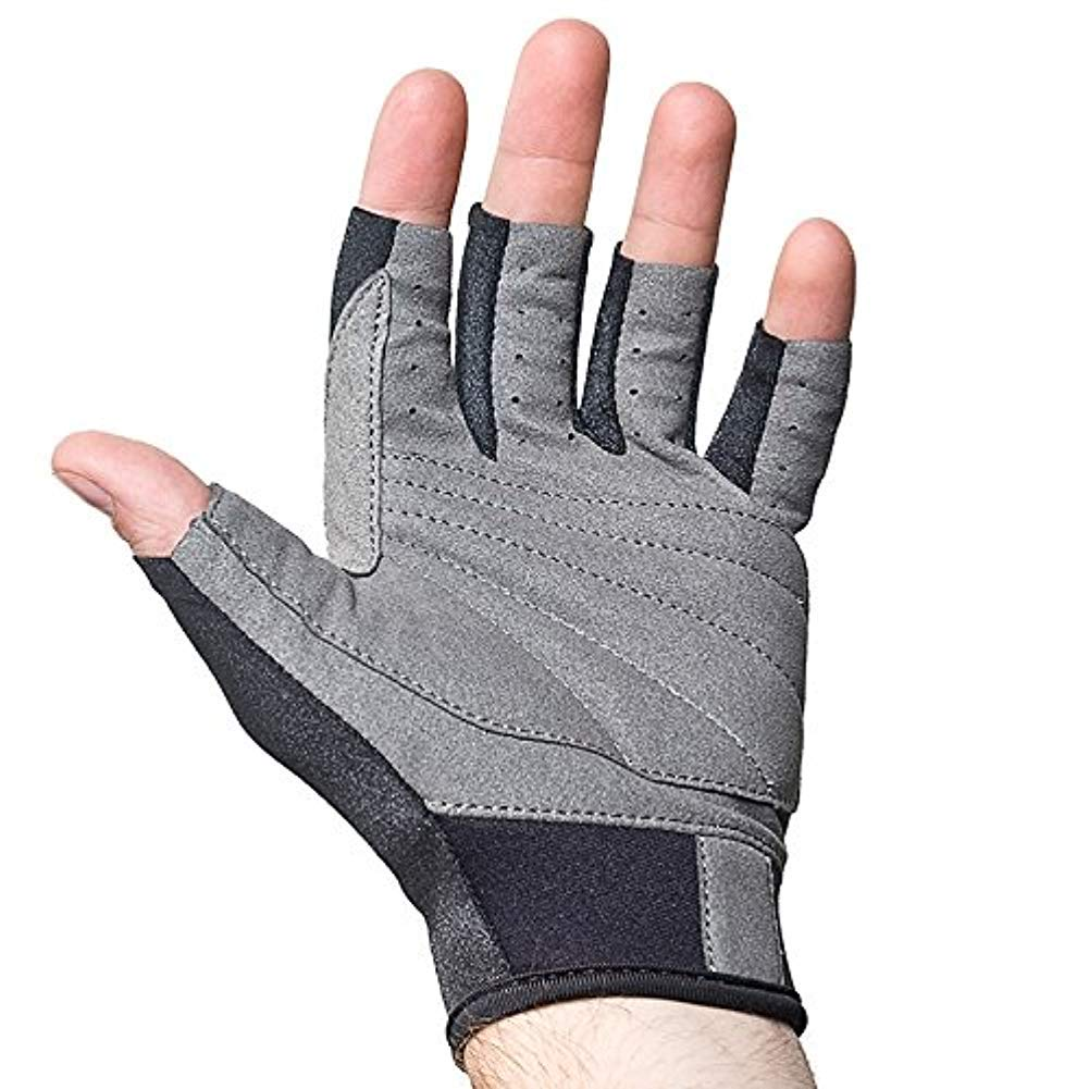 NeoSport 3/4 Finger Neoprene Gloves, 1.5mm - Unisex Design for Obstacle Racing, Biking, Sailing and Paddle Boarding - Offer Protection and a Reliable Grip - Soft, Comfortable Fit, Black, Medium by Neo-Sport