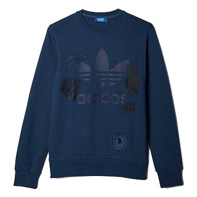 Pull col rond Adidas originals bleu marine