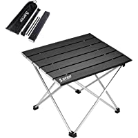 Gray Naturehike Portable Camping Side Tables with Aluminum Table Top: Hard-Topped Folding Table in a Bag for Picnic Easy to Clean Useful for Dining /& Cooking with Burner Beach Boat Camp