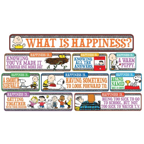 Eureka Peanuts Motivational Quotes Bulletin Board and Classroom Decorations, 6.5