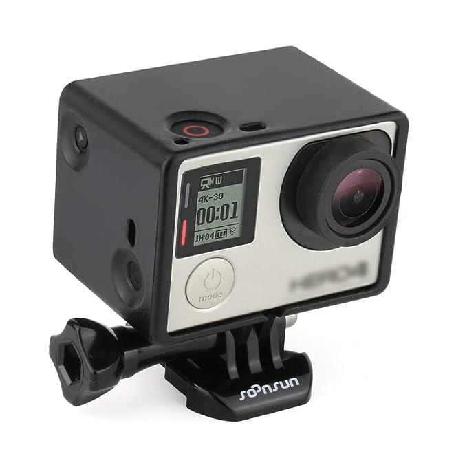 Soonsun Carcasa de montaje para cámara GoPro Hero 3, 3+, 4 ...