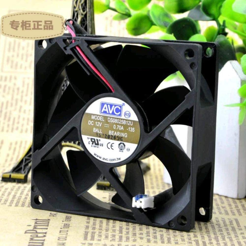 for AVC 8CM 8025 12V 0.70A DS08025B12U Double Ball 2 Line Cooling Fan
