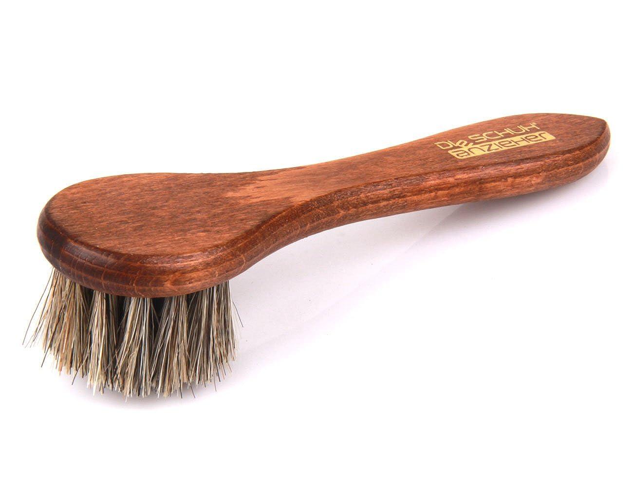 Die Schuhanzieher Tiegelbürste – Eincremebürste mit Rosshaar – Holz Schuhbürste Classic Edition – z2467