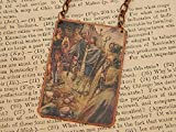 Saint Columba necklace Saint jewelry Mixed Media Jewelry