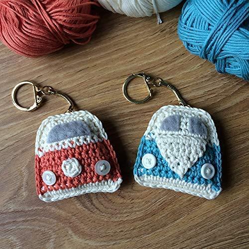 Llavero CAMPER AUTOCARAVANA en Crochet.: Amazon.es ...
