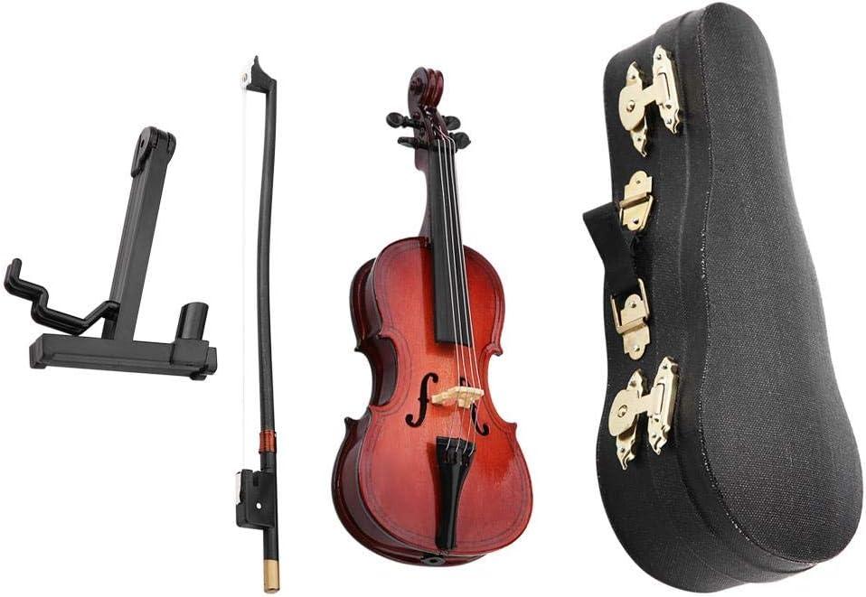 Violonchelo en miniatura, Jarchii Cello en Miniatura, 5.5in Réplica en Cello en Miniatura de Madera con Estuche Instrumento Modelo Adornos Musicales Regalo de cumpleaños de Navidad para niños Ami: Amazon.es: Hogar