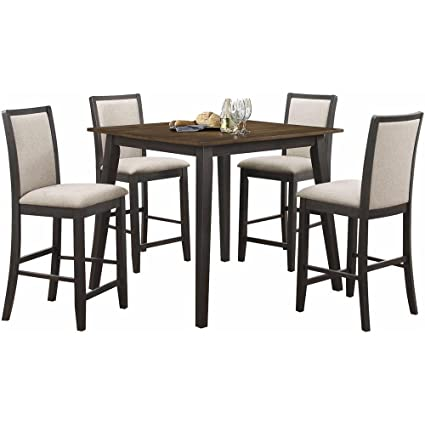Miraculous Amazon Com Salonika Modern 5 Piece Counter Height Dining Squirreltailoven Fun Painted Chair Ideas Images Squirreltailovenorg