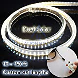 Alion Home SMD 2835 LED Dual-Color Strip Lights In Custom Lengths(Cool + Warm White) (150')