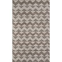 Momeni Rugs MESA0MES-1GRY80A0 Mesa Collection, 100% Wool Hand Woven Flatweave Transitional Area Rug, 8' x 10', Grey