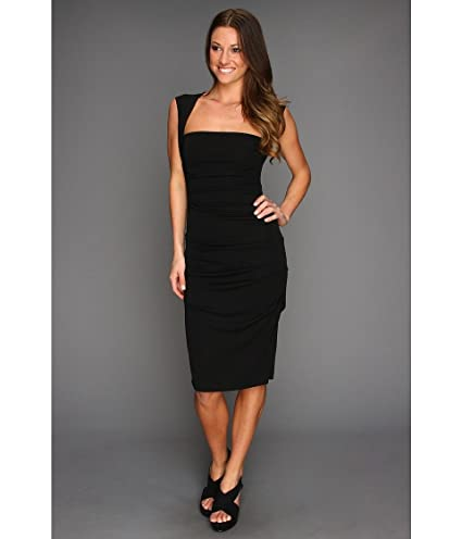 f24ac9e4b8e68 Amazon.com : Nicole Miller Sleeveless Jersey Tuck Dress Black Women's Dress  : Everything Else