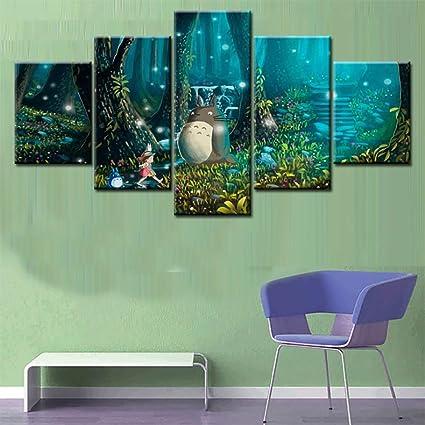 Elegant Amazon.de: FJLOVE My Neighbor Totoro Leinwanddrucke Wandkunst Malerei Bild  Wände Bilder Für