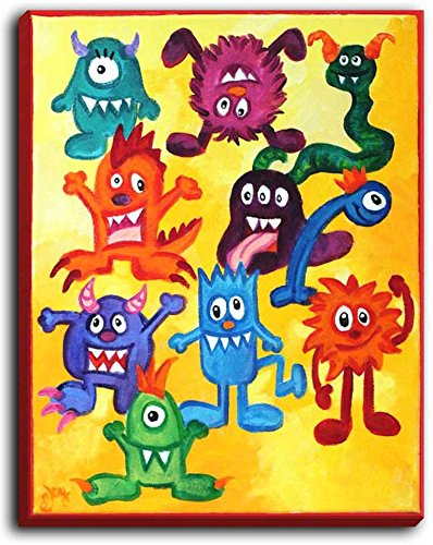 Monsters Mash Canvas Wall Art