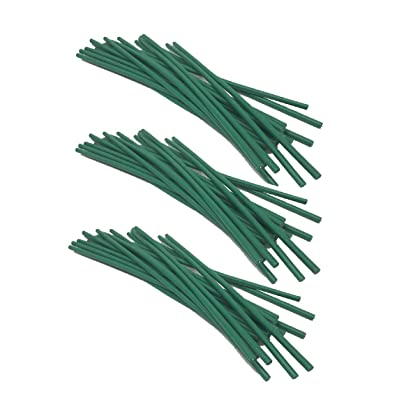 Sweet Online Deal Garden Plant Twist Tie - Flexible Green Rubber Coated Bonsai Plant Training Wire (60PC): Industrial & Scientific