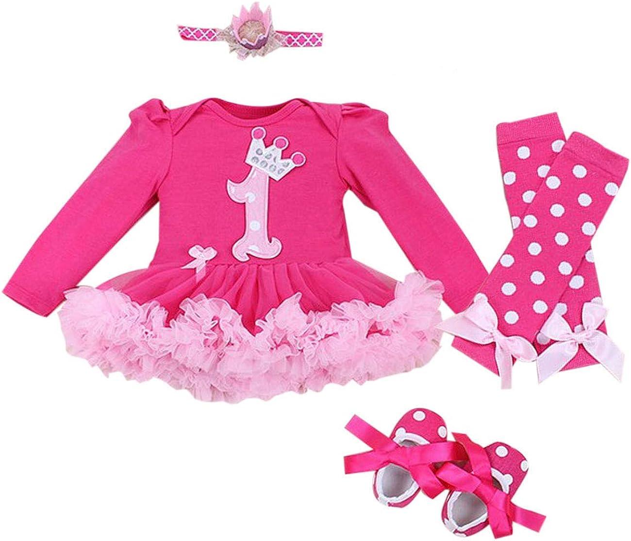 Marlegard Baby Girls Primo Compleanno Crown Tutu Vestito Fascia