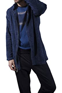 ADMAS Bata Manga Larga Blue Fur para Hombre
