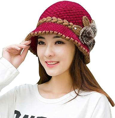 Women/'s Ladies Wool French Beret Flower Design Newy Hat Cap Winter Warm