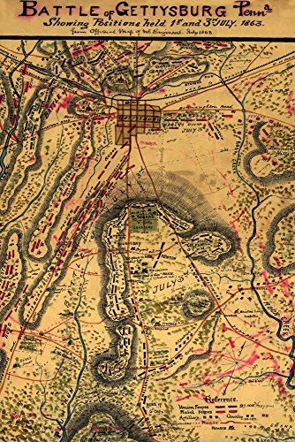 Battle of Gettysburg - Civil War - (1863) - Panoramic Map (12x18 SIGNED Print Master Art Print w/Certificate of Authenticity - Wall Decor Travel Poster)