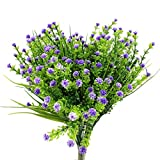 5Pcs Artificial Baby's Breath Floral Decor Bouquet for Home Indoor Outdoor Decor Gardening Wedding Garden Purple
