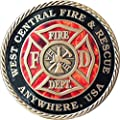 "wendells Set of 20 Customized Fire House & City Bronze Fireman Challenge Coin 1 9/16"" Fire Fighter Medallion by Wendells"
