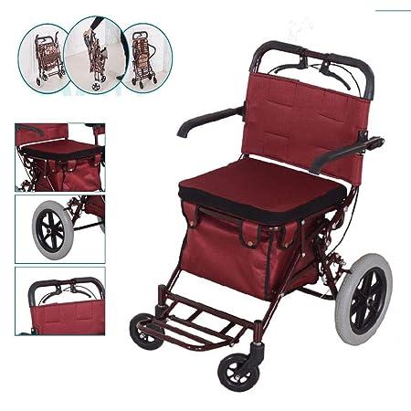 FKYTH Walker Shopping Cart Rest Seat 3 en 1, Andador ...