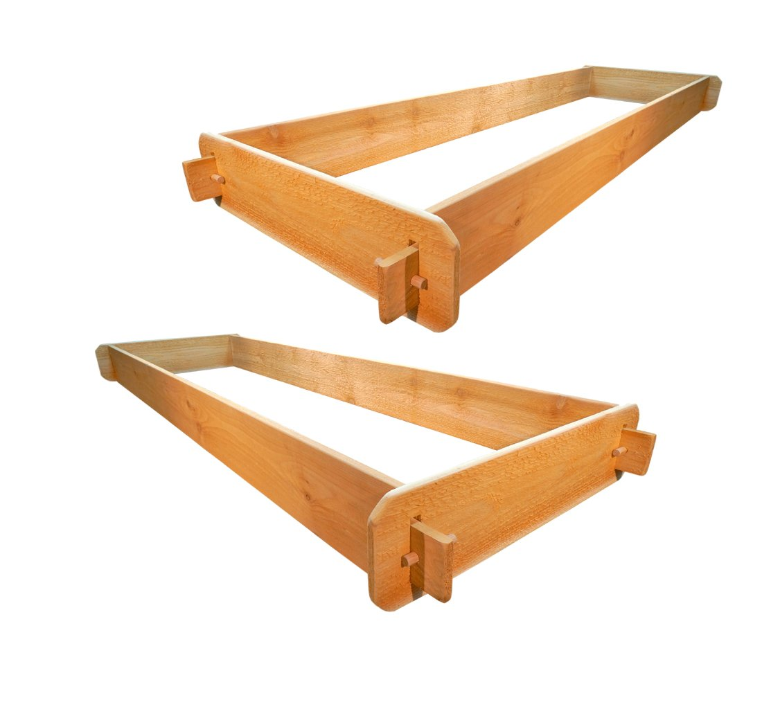 """Timberlane Gardens Raised Bed Kit Double Deep (Two) Western Red Cedar with Mortise and Tenon Joinery, 24"""" W x 72"""" L 3 <p>Raised garden bed kit dimensions: 2 feet wide x 6 feet long (6 inches deep) and 2 feet wide x 6 feet long (6 inches deep). Depth is 12 inches when stacked. 5/8"""" thick. Inner (planting) dimensions are a bit smaller due to the mortise & tenon joints. Raised Garden Bed Kit Proudly Made in Homer Glen, Illinois USA. Constructed of Select Western Red Cedar. Aromatic and Naturally Insect & Rot Resistant. Handcrafted Mortise & Tenon Joinery. The Strongest Corner Joints Available. Easy to Assemble in Seconds, No Tools Required. Perfect for a Children's Garden. Splinter Free. 100% Natural and Chemical Free. Safe for Vegetables and Best for Organic Gardening.</p>"""
