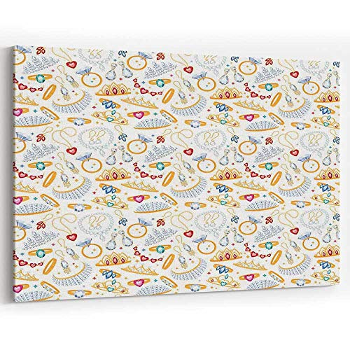 Pearls Canvas Prints Wall Art for Modern Home Decor Stretched and Framed Ready to Hang,36