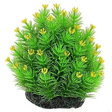 Amazon.com : eDealMax plástico acuario Artificial Mini Flores Punta de árbol, DE 4, 7 pulgadas, Verde : Pet Supplies