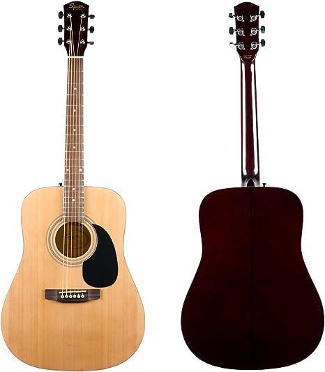 Squier por Fender SA-100 Upgrade Pack de guitarra acústica con correa, funda, bolsa y sintonizador: Amazon.es: Instrumentos musicales