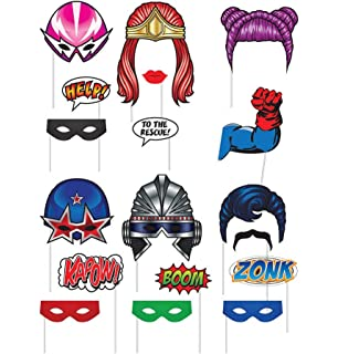 image relating to Superhero Cutouts Printable titled : Tremendous Hero Birthday Occasion Offer Contains