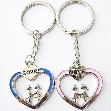 Cute pareja llavero amor llavero llavero: Amazon.es: Oficina ...