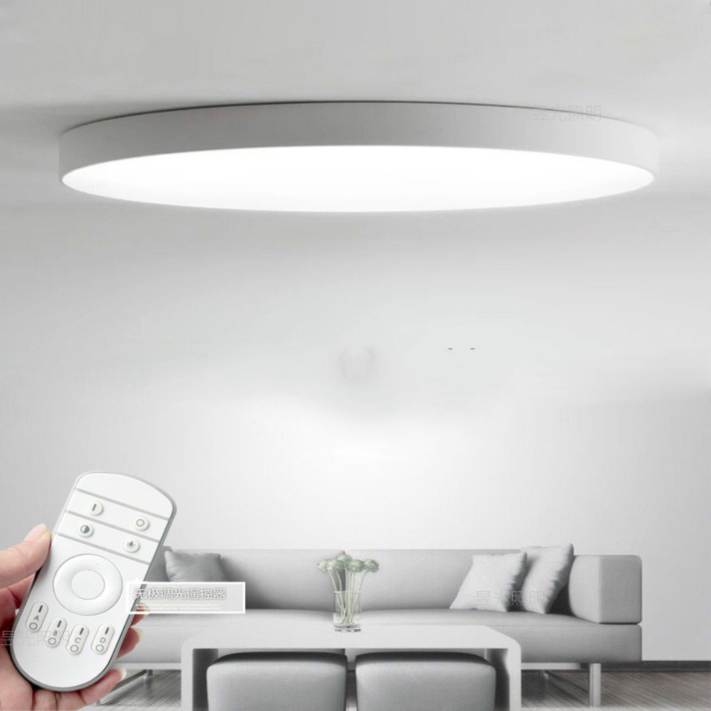 LED Altra-dünne Deckenlampe runde Schlafzimmer Einfache moderne Wohnzimmer   Büro Nordic Study   Bombural Beleuchtung, warmes Licht 60  5cm weiß 48W