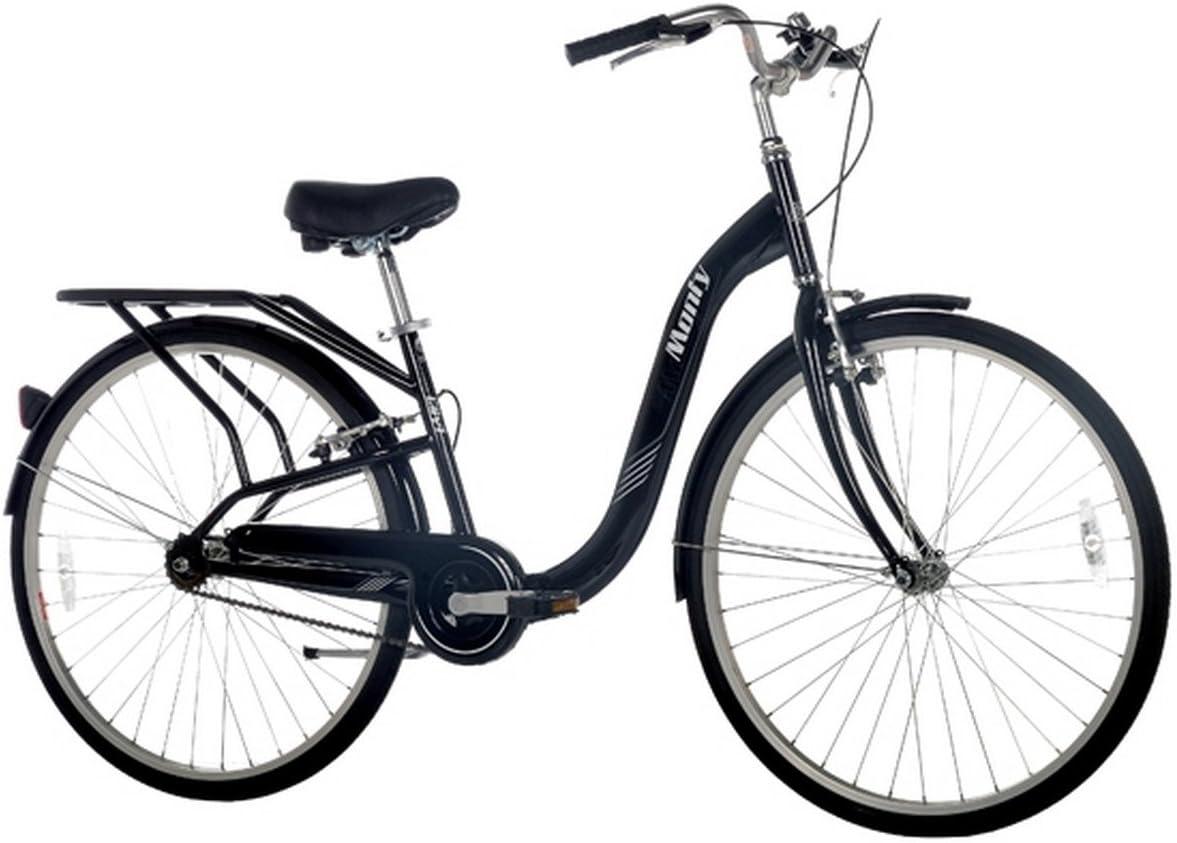 Monty City 4 - Bicicleta de Paseo Unisex, Color Negro, 26
