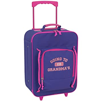 bff21b337a4c Mercury Going to Grandma's Wheeled Upright Childrens Luggage, Small, Purple