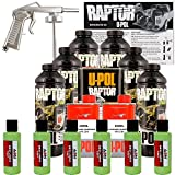 U-POL Raptor Lime Green Urethane Spray-On Truck Bed Liner Kit w/ FREE Spray Gun, 6 Liters